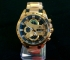 Casio Edifice Chronograph Efr-540 Gold Black Dial Watch With Warranty
